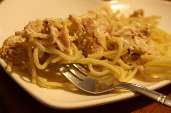 Fast Food for Slow Sundays: Cream Cheese Chicken Spaghetti