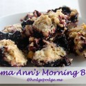 Mama Ann&#039;s Black Raspberry Morning Bars Recipe