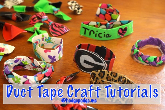 Duct Tape Bracelet Tutorial at Hodgepodge