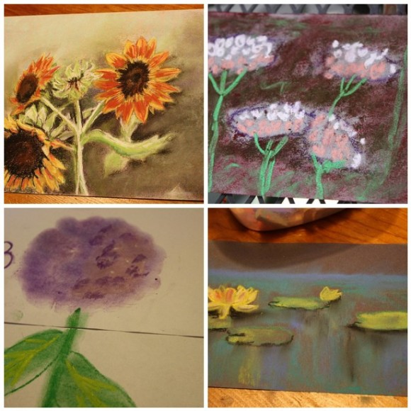 flower pastel tutorials