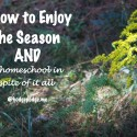 How to Enjoy the Season and Homeschool at Hodgepodge