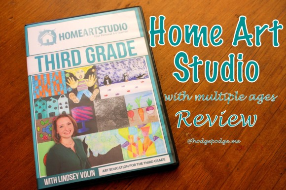 Home Art Studio Review - Using One Grade for Multiple Ages at www.hodgepodge.me