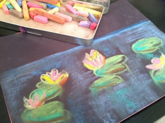 Stephanie from Harrington Harmonies shared a beautiful lily pad pastel!