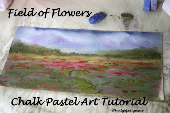Field of Flowers Chalk Pastel Art Tutorial