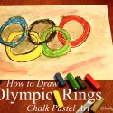 Olympic Rings Chalk Pastel Art www.hodgepodge.me