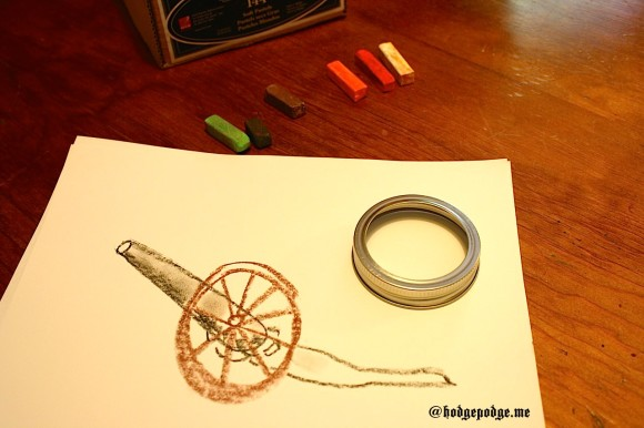 Civil War Cannon art tutorial step 1