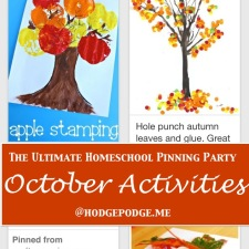 October Activities at The Ultimate Homeschool Pinning Party