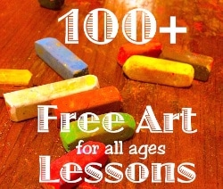 100+ FREE Chalk Art Lessons - You ARE an Artist! sidebar 250