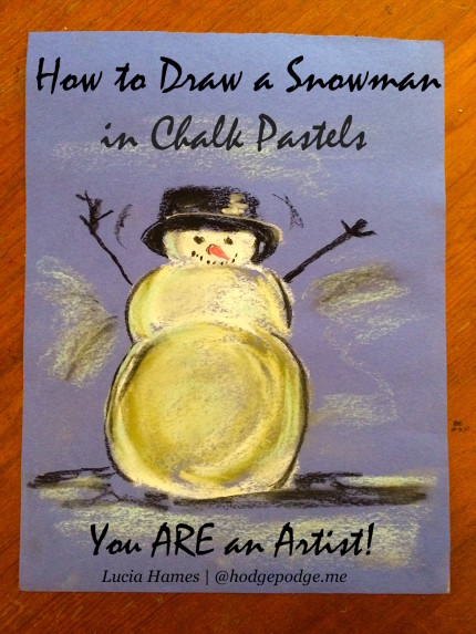 How to Draw a Snowman in Chalk Pastels