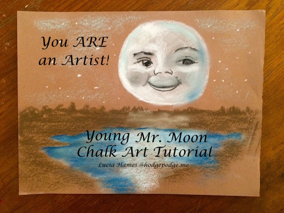 Young Mr. Moon Chalk Art Tutorial