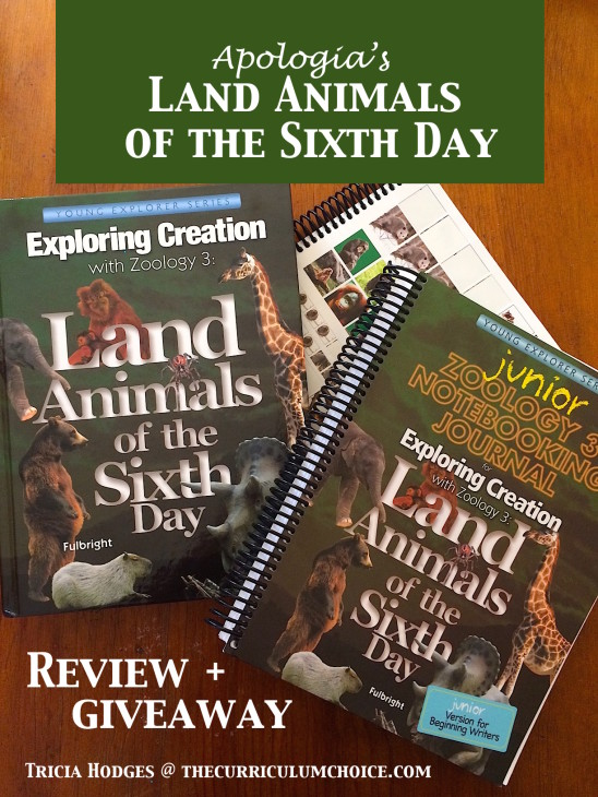 Apologia Land Animals of the Sixth Day Review and Giveaway