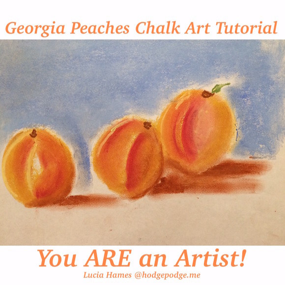 Georgia Peaches Chalk Art Tutorial