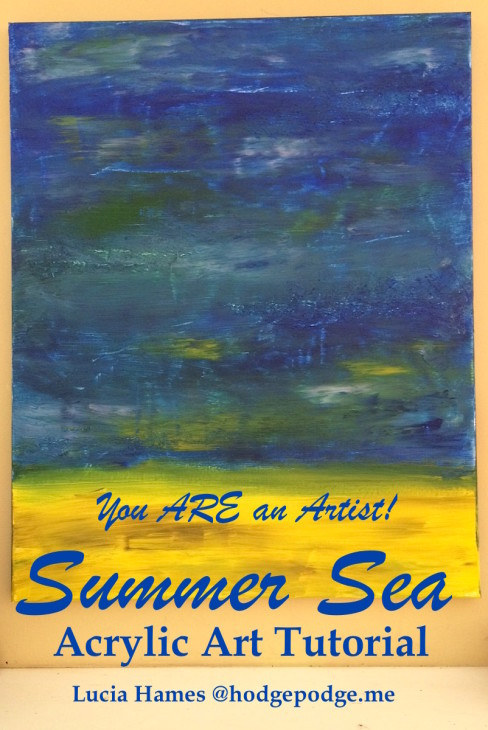 Summer Sea Acrylic Art Tutorial - You ARE an Artist