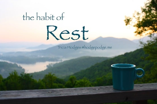 The Habit of Rest