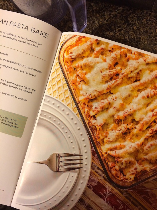 A new favorite - Chicken Parmesan Pasta Bake - with a gluten free option from Prep-Ahead Meals from Scratch