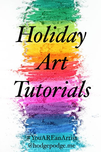 Holiday Art Tutorials for all ages