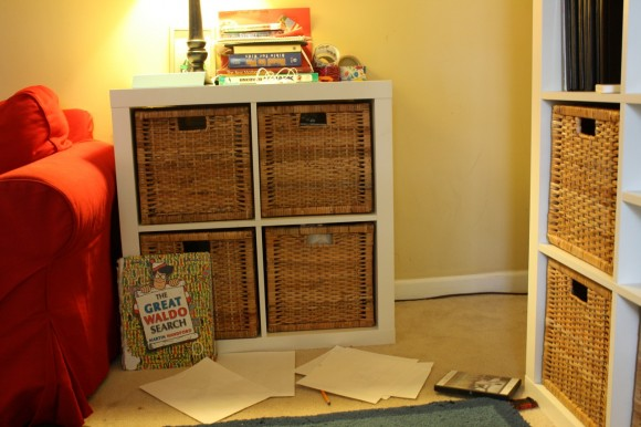 IKEA expedit 2x2 end table