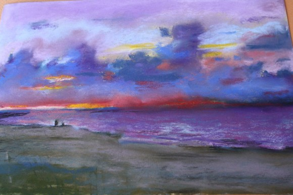 Beach chalk pastel by Lucia Hames at hodgepodge.me