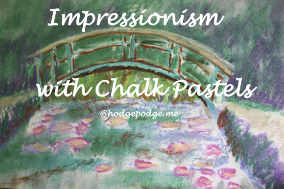 Impressionism with Chalk Pastels - Monet's Bridge