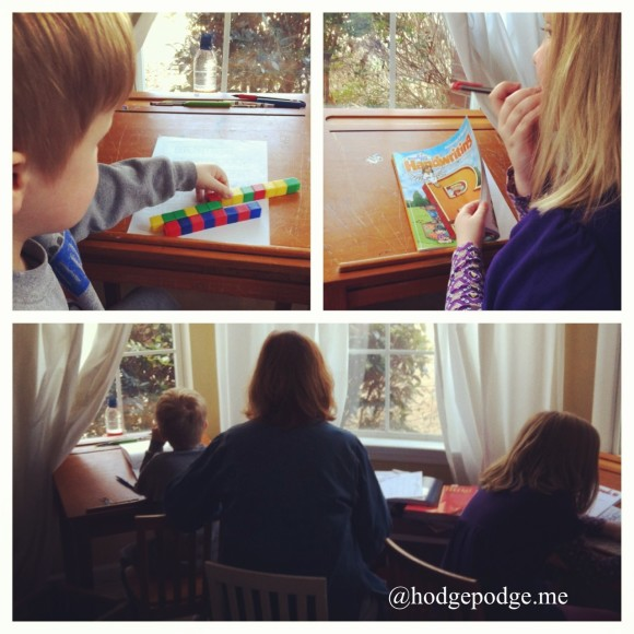 Flexibility of homeschool - little ones first www.hodgepodge.me