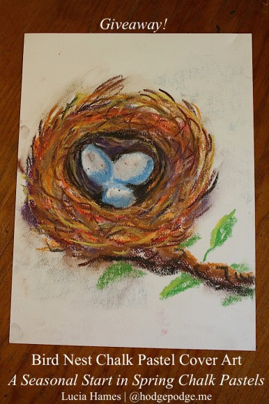 {Giveaway!} Chalk Pastel Bird Nest Art by Lucia Hames www.hodgepodge.me