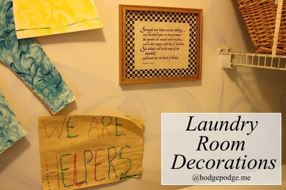 Laundry room decorations hodgepodge.me