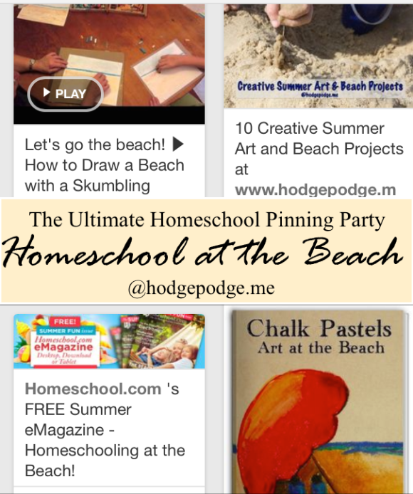 Homeschool at the Beach - Ultimate Pinning Party