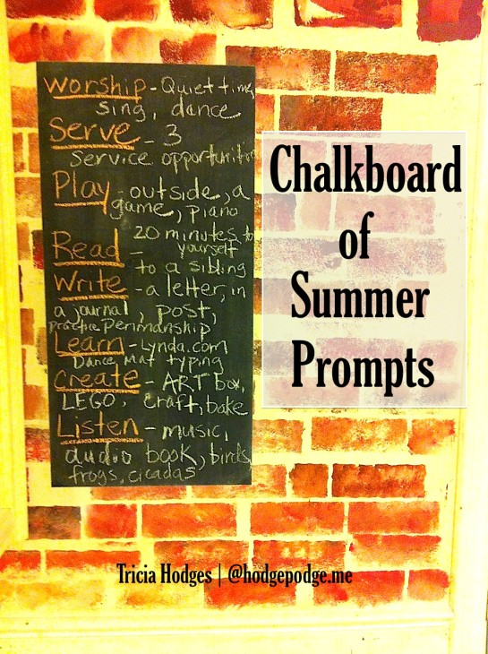 That wonderful, empty space on the calendar. But sometimes having more time can be a challenge. So we have found a balance. Summer is when we work on those basic 'bones' of our days – all the while having fun and taking an official homeschool break. We use summer to build habits.