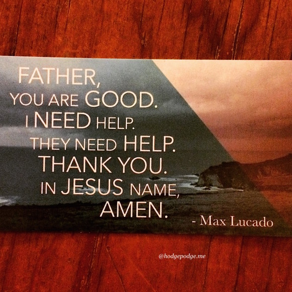 Before Amen - simple prayer by Max Lucado