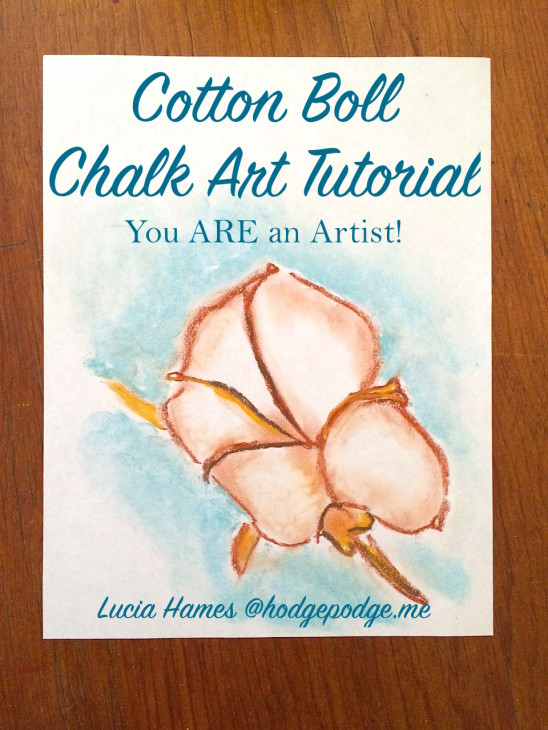 Cotton Boll Chalk Art Tutorial - You ARE an Artist