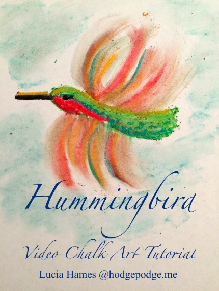 Hummingbird Video Chalk Art Tutorial because #YouAREanArtist