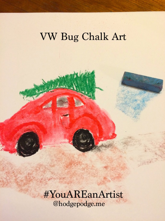 Bringing the Christmas Tree Home Chalk Art Tutorial