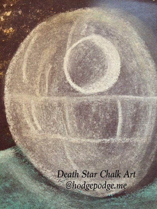 Death Star Chalk Art - You ARE an Artist