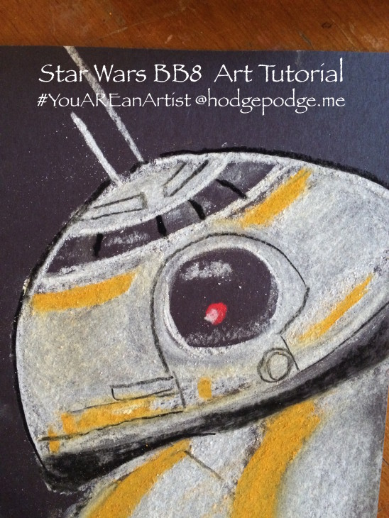 How to Draw BB8 in Chalk Pastels - The Force Awakens