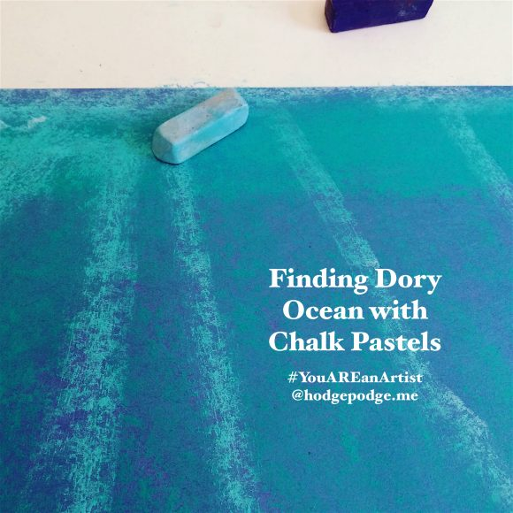 Finding Dory ocean with chalk pastels